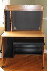 Corner TV stand and desk