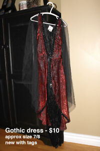 Gothic style dress/costume (girls 7/8)