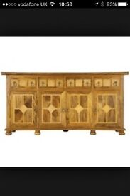 Barker and Stonehouse Flagstone sideboard plus matching mirror