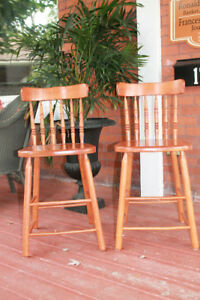 Two matching stools