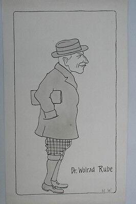 H.Waag - Dr.Wolrad Rube , Karikatur