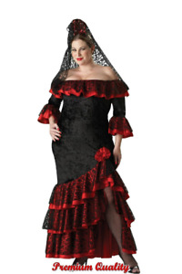Elite Women's Plus Senorita Costume