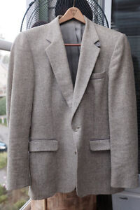 Set of Vintage Grey Tweed Sport Coat Size M & Vtg Heavy WOOL TWE