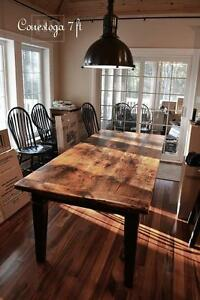 Reclaimed Wood Harvest Tables