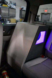 """2 12"""" alpine subs with amp and bass controller"""