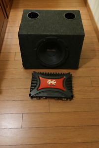 1200W Sony Amplifier with 600W Pioneer 16inch sub in enclosure