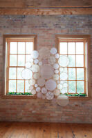 Wedding Decorations - Ceremony Embroidery Hoop Lace Backdrop