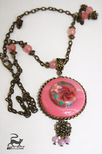 Handmade charm pendant necklace and earrings Kitchener / Waterloo Kitchener Area image 3