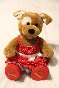 Build-a -Bear 'Dog' and 2 Outfits