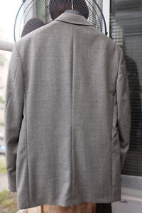 100% Italian wool Double Breasted Jacket and pans Size 40 North Shore Greater Vancouver Area image 2