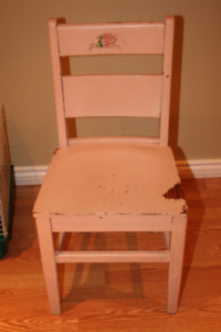 CHAIR CHILD'S WOODEN CHAIR - $15