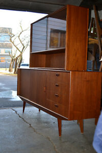 Teak Sideboard with Hutch