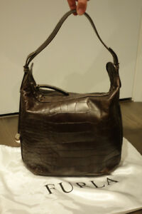 FURLA Brown Leather tote with dust bag