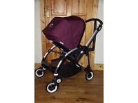Bugaboo bee plus with limited edition fabric deep purple in fabulous condition