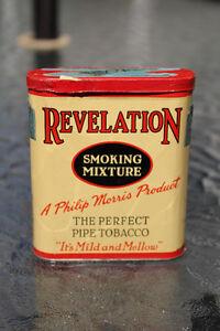 REVELATION PIPE TOBACCO CIGARETTE POCKET TIN