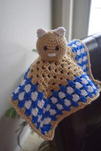 Crocheted baby blanket tot
