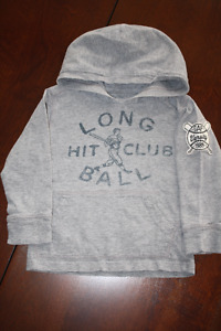 Baby GAP Hooded Baseball Shirt- 2T