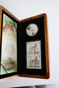 2005 Limited Edition Deer and Fawn Coin and Stamp Set
