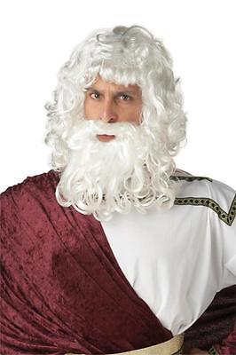 Zeus God Wig & Beard Men Costume or Santa Claus Wig