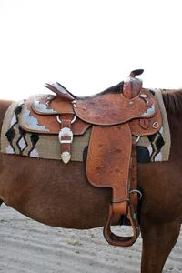 Beautiful western show saddle