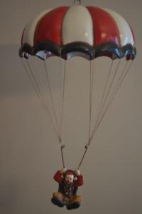 Décoration clown en parachute