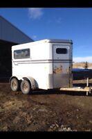 2 horse bumper pull straight horse trailer 1998 aluminum