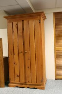 Beautiful Pine Armoires/Wardrobe w/Shelves