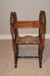 Antique Side Table,Magazine Rack