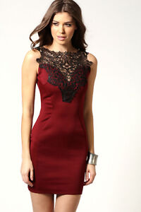 Red dress with Black embroidery! -Club/Wedding dress