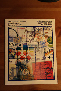 1974 Collection souvenir album timbres Canada