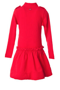 Robe New Lili Gaufrette Red Party Dress Girls Rouge size 5T
