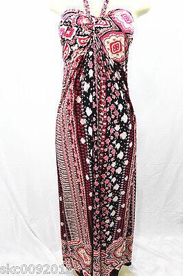 New Women Sundress/Evening Gown Long Bridesmaid Summer Dress-Multi-Pink(size S)