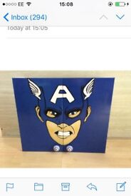 Marvel hand painted cupboard unit