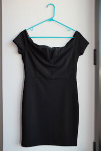Dynamite Off-the-shoulder Little Black Dress