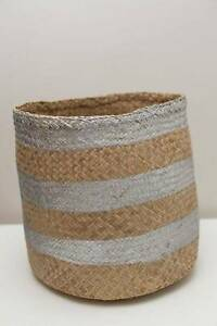Gorgeous Cane Basket with Grey Stripes  NORTH RYDE PICKUP North Ryde Ryde Area Preview