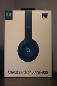 Beats by Dre Solo 3 Wireless Headphones in Pop Blue - Brand New