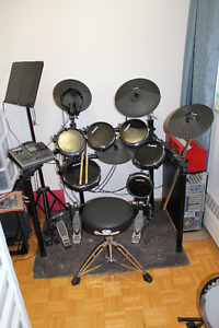 Alesis DM-10  10 piece w/ Dual bass pedal and throne