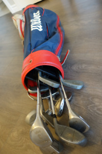 Assorted Golf Clubs and Bag, Left Handed