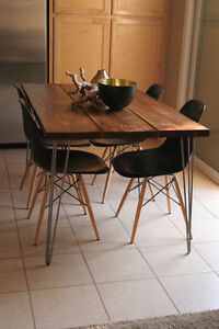 Hairpin leg kitchen table