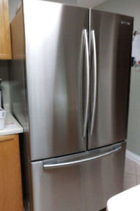 Samsung stainless steel french door fridge 68.5h 36w 32d