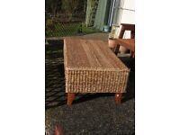 Rattan coffee table - good condition - garden furniture