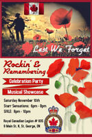 ROCKIN' & REMEMBERING --- Musical Showcase Honouring Our Troops