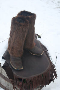 Up-cycled Fur Boot Covers