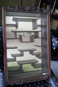 Chinese Curio Display Wall Cabinet
