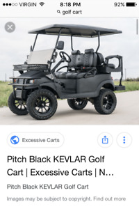 Looking for gas powered golf cart in good shape !!