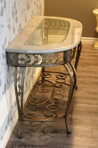 Side table - marble top