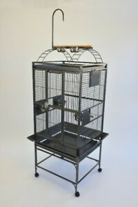 """24"""" X 22"""" Parrot Bird Cage with Play Top and Toy Hanger"""
