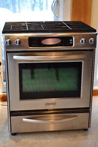 Cuisiere, Four Oven, Range Stainless Gaz Kitchenaid.