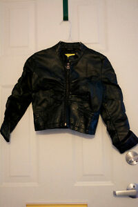 Cropped Black Faux Leather Jacket
