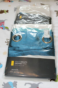 *** BRAND NEW *** TEAL CURTAINS
